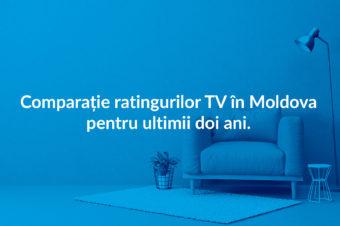 Comparație ratingurilor TV în Moldova pentru ultimii doi ani.